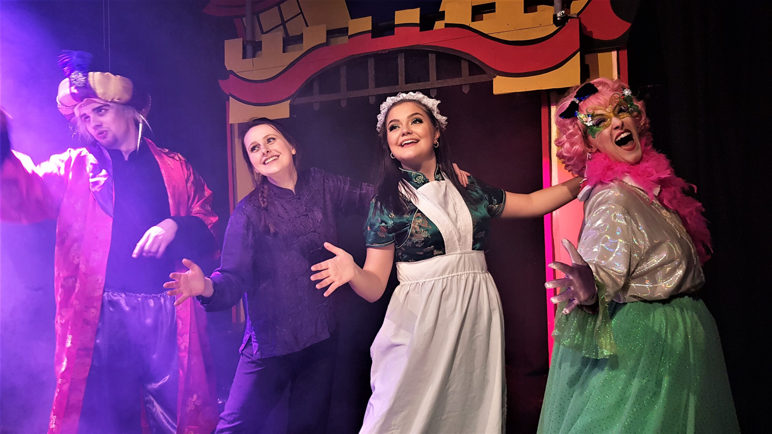 The cast of Aladdin at the Colour House Theatre