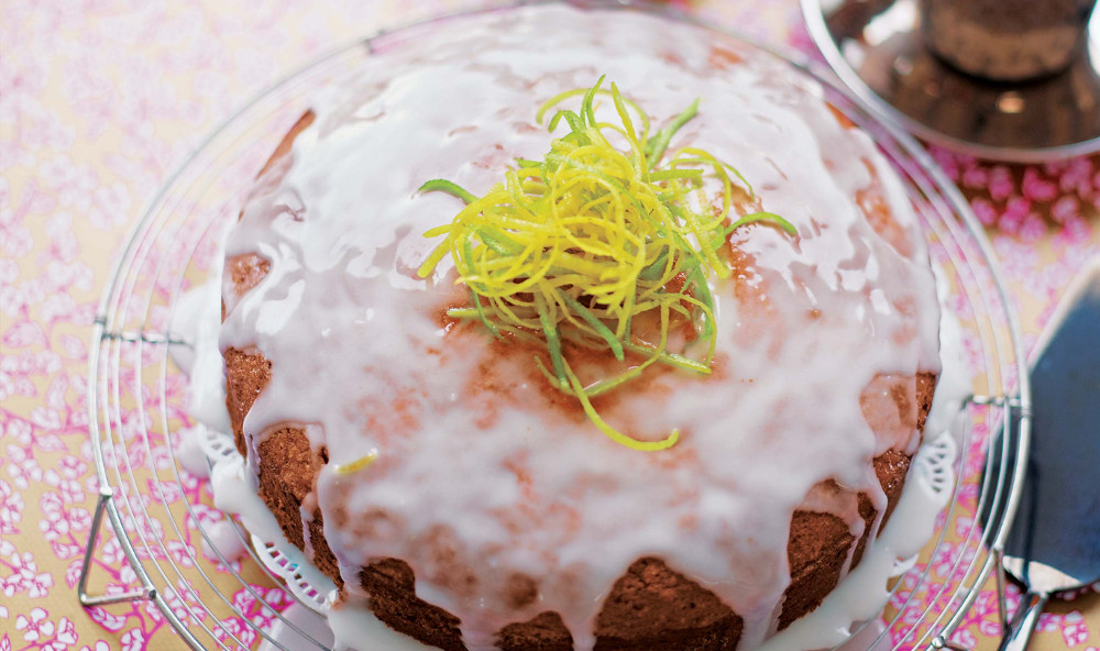 Eric Lanlard Lime and Lemon Drizzle Cake
